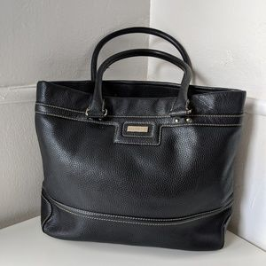 Black Kate Spade tote with white stitching